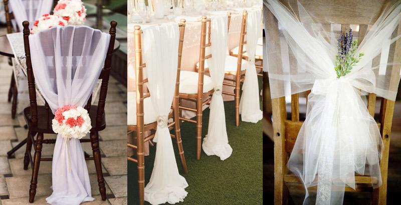 Банты на стулья на свадьбу своими руками мастер класс