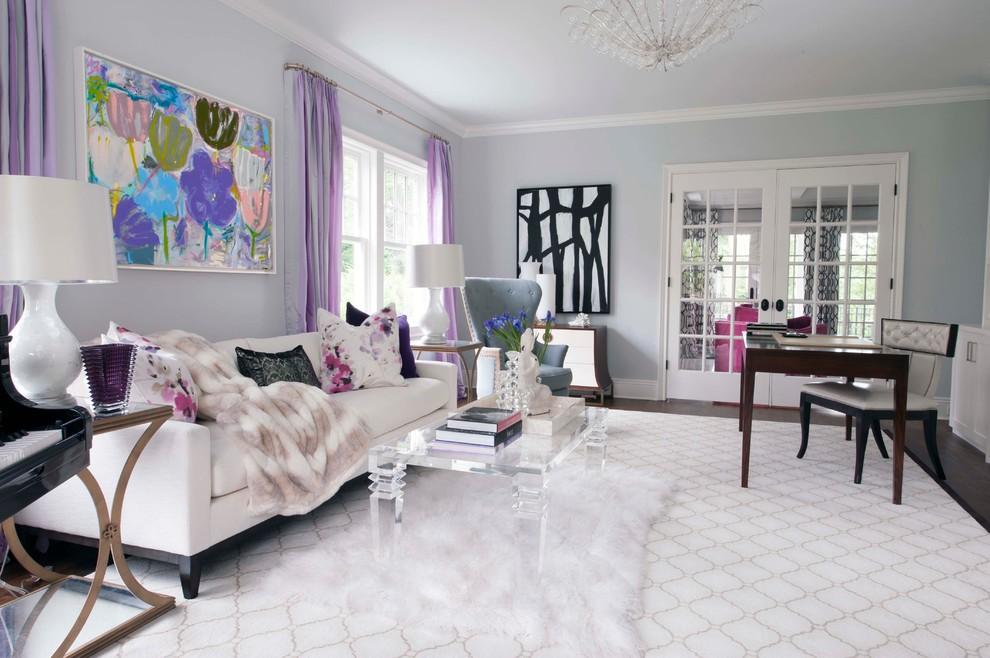 Apartment Livingroom Rugs Grey Sofa Contemporary