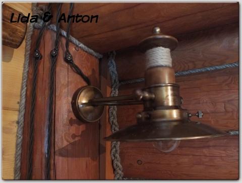ретро проводка и медная лампа