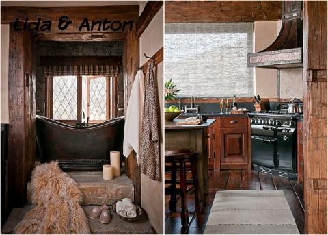 Ванная и кухня в рустикальном стиле