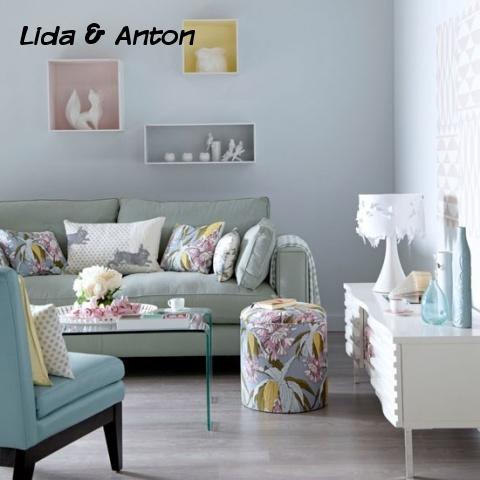 Гостиная с миксом мебели