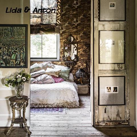 Большая спальня с экзотическими нотками