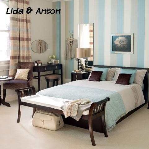 Пастельные тона в оформлении спальни