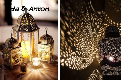Освещение в марокканском стиле