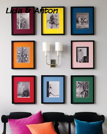Фото с цветными рамками