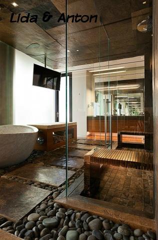 SPA ванная вашей мечты - камни и дерево