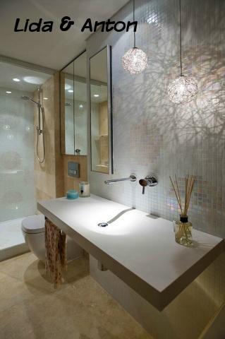 SPA ванная вашей мечты - стены в мелкую плитку